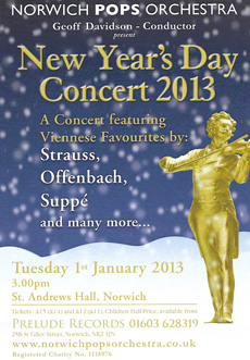 A concert featuring Viennese Favourites, New Years Day 2013