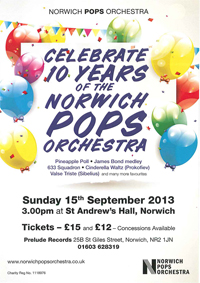 Celebrate 10 Years of the Norwich Pops Orchestra