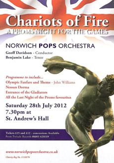Chariots of Fire - A Proms night for the games